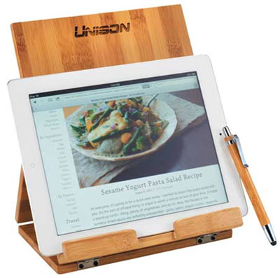 Tablet or Recipe Book Stands with Ballpoint Stylus
