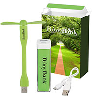 Power Bank and Mini USB Fan Gift Sets