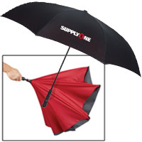 "Two-Tone Inversion Umbrellas - 48"" Arc"