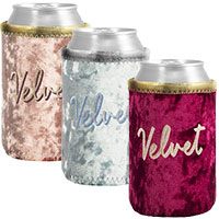 Liam Velvet Neoprene Can Holders