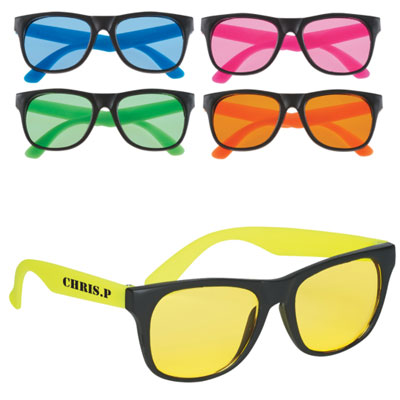 Tinted Lens Rubberized Sunglasses
