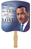 Martin Luther King, Jr. Love Quote Hand Fans