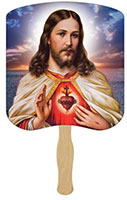 Sacred Heart Hand Fans