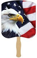 Eagle with American Flag Hand Fans