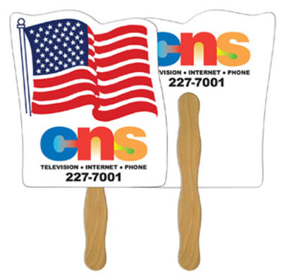 Full Color Flag Hand Fans