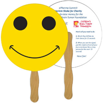 Full Color Smiley Face Hand Fans