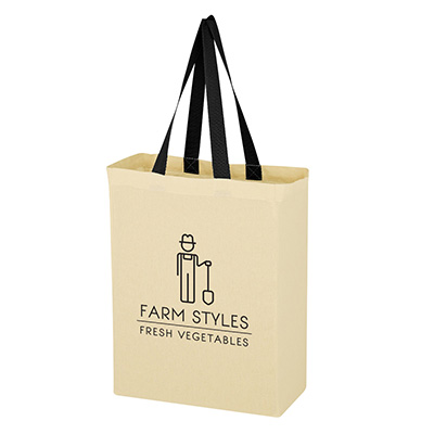 15.75 x 15 Natural Cotton Canvas Grocery Tote Bags