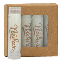 4-Pack Lip Balm in Kraft Window Boxes