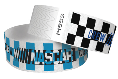 "1"" Tyvek Wristbands - Checkered"