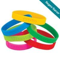 "1/2"" Debossed Silicone Bracelets - Super Saver"