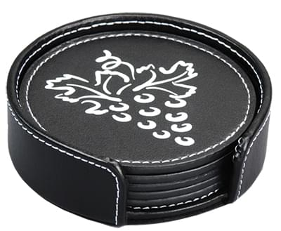 Aspen Faux Leather Coaster Sets