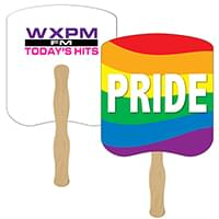 Full Color Gay Pride Hand Fans