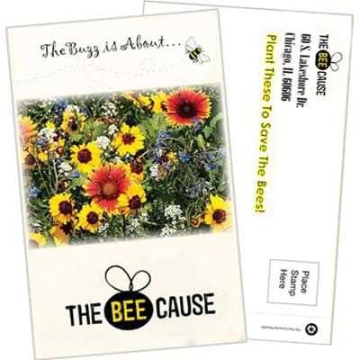 Save the Bees Postcard Seed Packets