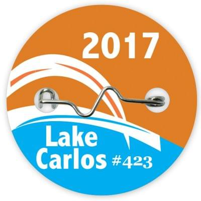 Circle Beach Badges - Consecutive Numbering