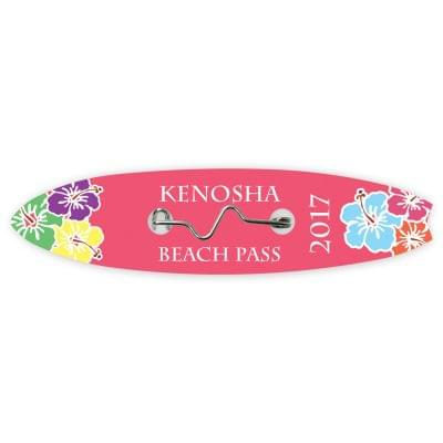 Surfboard Beach Badges