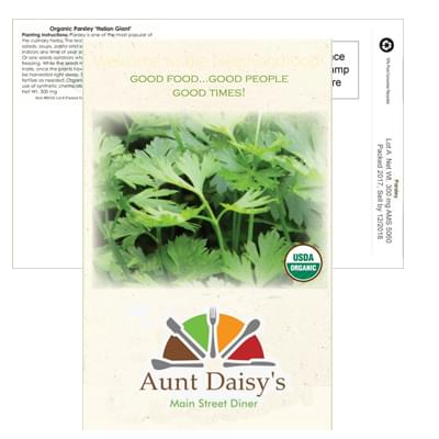 Organic Parsley Postcard Seed Packets