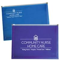 Plastic Zip Envelopes with Gusset - 12.75 x 9.5 x 1