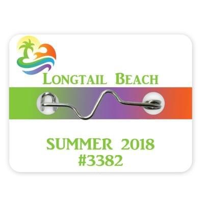 Rectangle Beach Badges - Consecutive Numbering