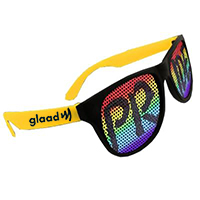Novelty Rainbow Pride Billboard Sunglasses