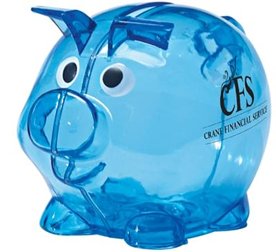 Mini Translucent Plastic Piggy Banks