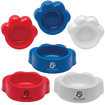 Paw Shaped Pet Food Bowls