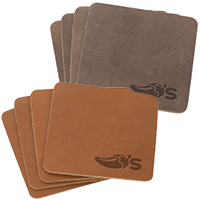 Tanner Leather Coaster Sets