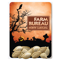 Halloween Themed Pumpkin Seed Packets - Graveyard