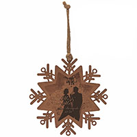 Wooden Ornaments - Snowflake