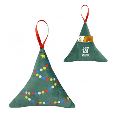 Scented Plush Tree Ornaments & Gift Card Holders