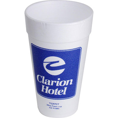 20 oz. Styrofoam Cups, High Quantity