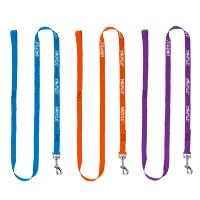 ".75"" x 60"" Smooth Nylon Pet Leashes - Metal Snap Hook"