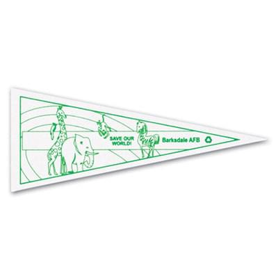 10 x 4 Color Me Felt Pennants