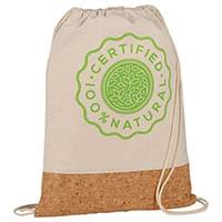 Cotton and Cork Drawstring Bags