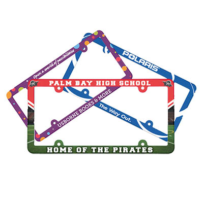 Full Color License Plate Frames