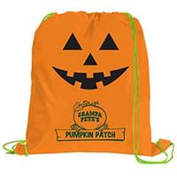 Pumpkin Drawstring Backpacks