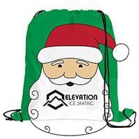 Santa Drawstring Backpacks