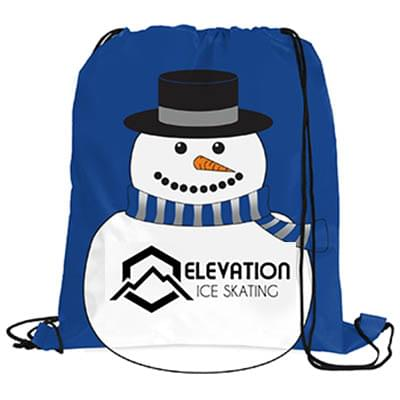 Snowman Drawstring Backpacks