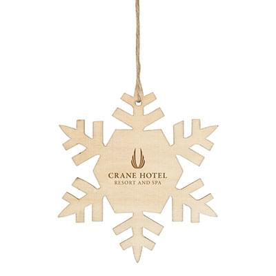 Economy Wooden Ornaments - Snowflake Shape
