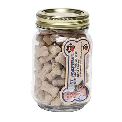 Mini Dog Bones Pint Jars with Bone Magnets