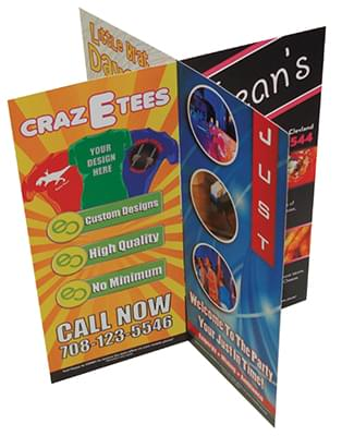 8 Sided Table Tents - 2 Part