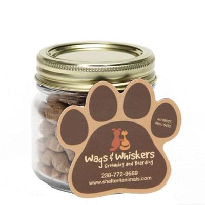 Cat Treat Jars with Paw Magnets - Half Pint