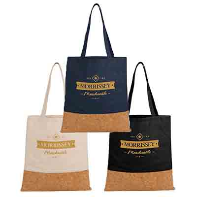 16.5 x 15 Cotton and Cork Convention Totes
