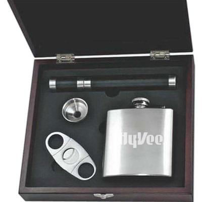 Cigar Cutter and Flask Gift Sets