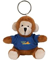 Mini Plush Monkey Key Chains