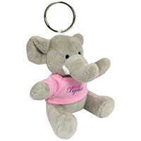 Mini Plush Elephant Key Chains