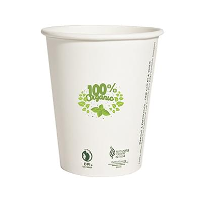 12 oz  Compostable Paper Cups
