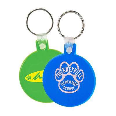 Flexible Round Keytags - Budget