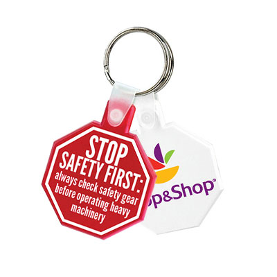 Stop Sign Soft Keytags - Budget
