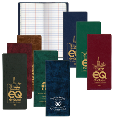 Oil & Pipe Long Tally Books - Executive Vinyl