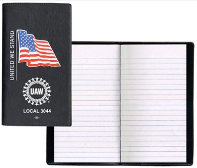 Executive Cover Tally Books with Pre-Printed U.S. Flag - Union Made
